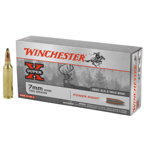 Winchester Super-X 7mm Winchester Short Magnum (WSM) 150gr Power-Point 20/Box