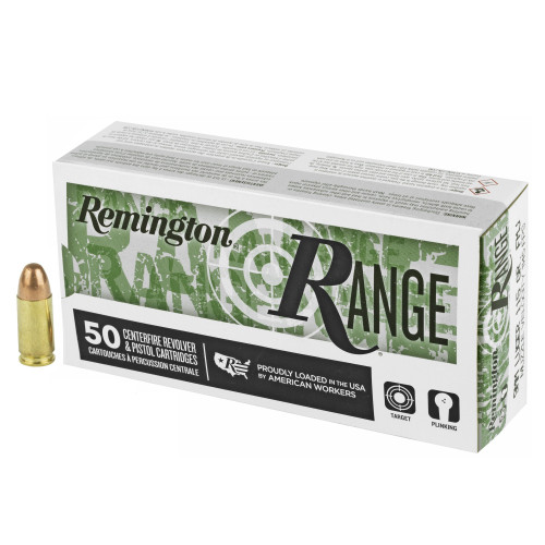 Remington RANGE Ammo 9mm Luger 115gr Full Metal Jacket 50/Box