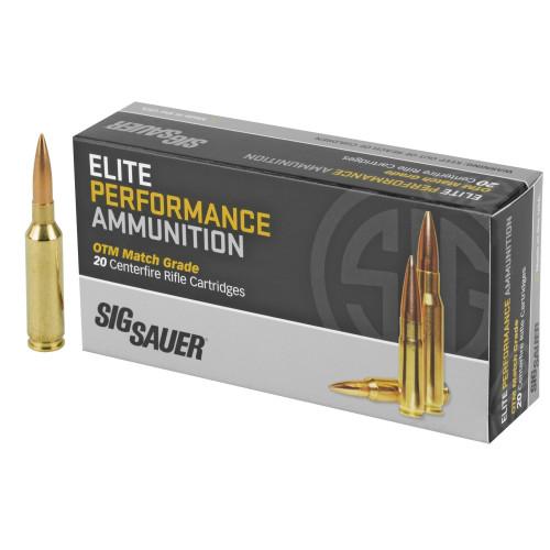 Brand: Sig Sauer Ammo   MPN: E6MMCM2-20   Use: Target, Competition   Caliber: 6mm Creedmoor   Grain: 107   Bullet: Open Tip Match   MUNITIONS EXPRESS