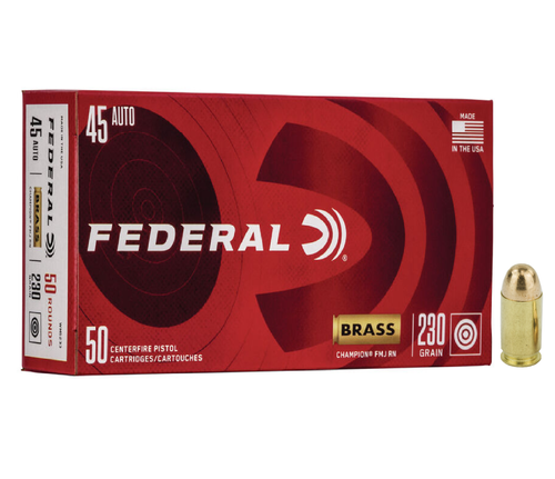 Federal Champion Target .45 ACP 230gr Full Metal Jacket 50/Box