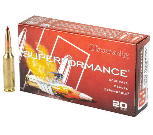 Brand: Hornady Ammo | MPN: 81394 | Use: Hunting | Caliber: 6mm Creedmoor | Grain: 90 | Bullet: Polymer Tip | MUNITIONS EXPRESS