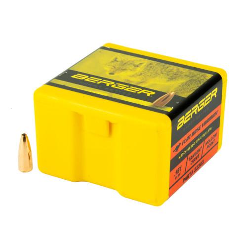 Brand: Berger Bullets | MPN: 22303 | Use: Hunting (Varmint) | Caliber: .22 (.224 Diameter) | Grain: 40 | Bullet: Hollow Point Flat Base | MUNITIONS EXPRESS