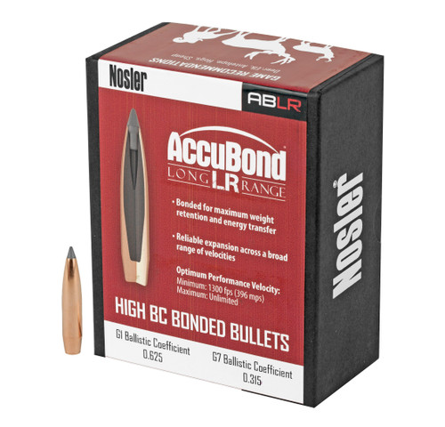 Brand: Nosler Bullets   MPN: 58922   Use: Hunting (Hogs)   Caliber: 6.5mm (.264 Diameter)   Grain: 142   Bullet: Bonded Polymer Tip Boat Tail   MUNITIONS EXPRESS