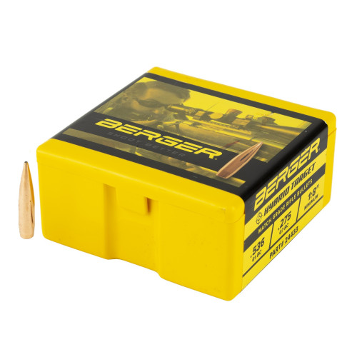 Brand: Berger Bullets | MPN: 24433 | Use: Target, Competition | Caliber: 6mm (.243 Diameter) | Grain: 105 | Bullet: Hollow Point Boat Tail | MUNITIONS EXPRESS