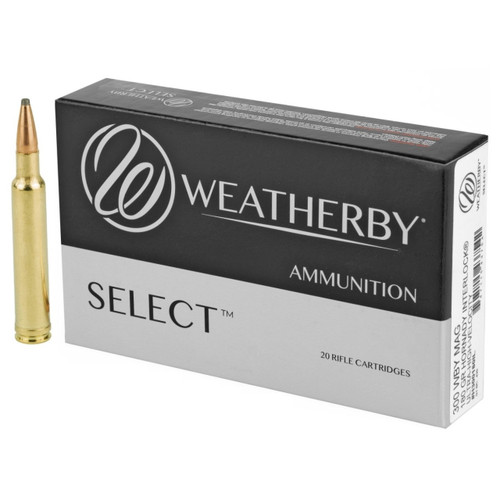 Brand: Weatherby Ammo | MPN: H300180IL | Use: Hunting (Deer, Antelope) | Caliber: .300 Weatherby Magnum | Grain: 180 | Bullet: Jacketed Soft Point | MUNITIONS EXPRESS