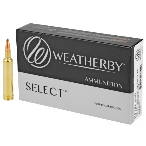 Brand: Weatherby Ammo | MPN: H257100IL | Use: Hunting (Deer, Hogs) | Caliber: .257 Weatherby Magnum | Grain: 100 | Bullet: Jacketed Soft Point | MUNITIONS EXPRESS