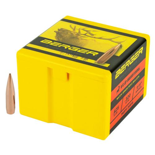 Brand: Berger Bullets   MPN: 30515   Use: Hunting (Elk)   Caliber: .30 Caliber (.308 Diameter)   Grain: 210   Bullet: Hollow Point Boat Tail   MUNITIONS EXPRESS