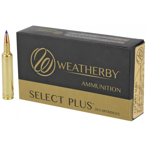 Brand: Weatherby Ammo   MPN: B257100TTSX   Use: Hunting (Varmint, Deer)   Caliber: .257 Weatherby Magnum   Grain: 100   Bullet: Polymer Tip   MUNITIONS EXPRESS