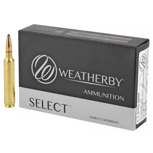 Brand: Weatherby Ammo | MPN: H65RPM140IL | Use: Hunting (Deer, Elk) | Caliber: 6.5mm Weatherby RPM | Grain: 140 | Bullet: Jacketed Soft Point | MUNITIONS EXPRESS