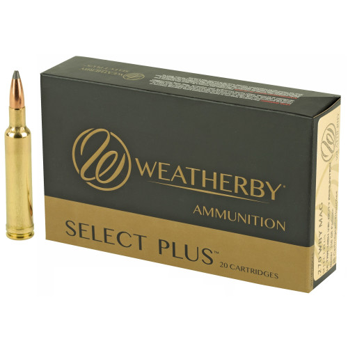 Brand: Weatherby Ammo   MPN: N270150PT   Use: Hunting (Desert Bighorn Sheep)   Caliber: .270 Weatherby Magnum   Grain: 150   Bullet: Jacketed Soft Point   MUNITIONS EXPRESS