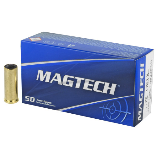Brand: Magtech Ammo   MPN: 32SWLB   Use: Target, Competition   Caliber: .32 S&W Long   Grain: 98   Bullet: Lead Wadcutter   MUNITIONS EXPRESS