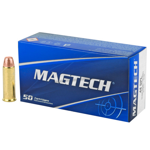 Brand: Magtech Ammo | MPN: 44F | Use: Target | Caliber: .44 Special | Grain: 240 | Bullet: Full Metal Jacket | MUNITIONS EXPRESS