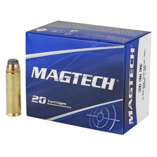 Brand: MAGTECH Ammo   MPN: 500L   Use: Defense, Hunting (Hogs, Bear)   Caliber: .500 S&W Magnum   Grain: 325   Bullet: Semi-Jacketed Soft Point   MUNITIONS EXPRESS