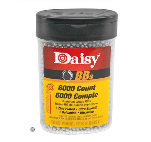 Daisy PrecisionMax BB Bottle .177 Caliber (4.5mm Diameter) BBs 5.1gr +/- 5.4gr Zinc-Plated Steel 6000/Bottle