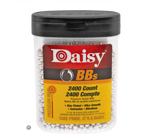 Brand: Daisy BBs | MPN: 980024-446 | Use: Plinking, Target, Hunting (Quail, Snipe) | Caliber: .177 | Grain: 5.1 +/- 5.4 | BB: Round Ball | MUNITIONS EXPRESS