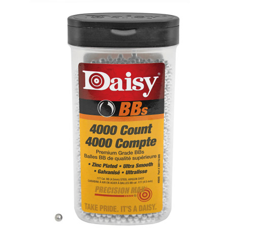 Brand: Daisy BBs | MPN: 980040-446 | Use: Plinking, Target, Hunting (Quail, Snipe) | Caliber: .177 | Grain: 5.1 +/- 5.4 | BB: Round Ball | MUNITIONS EXPRESS