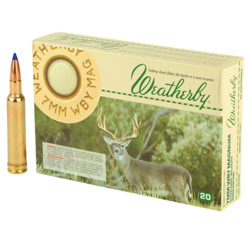 Brand: Weatherby Ammo | MPN: B7MM120TTSX | Use: Hunting (Deer, Elk) | Caliber: 7mm Weatherby Magnum | Grain: 120 | Bullet: Polymer Tip | MUNITIONS EXPRESS