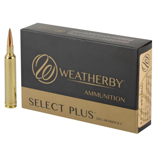 Brand: Weatherby Ammo | MPN: R653156EH | Use: Hunting (Deer, Elk) | Caliber: 6.5-300 Weatherby Magnum | Grain: 156 | Bullet: Jacketed Hollow Point Boat Tail | MUNITIONS EXPRESS