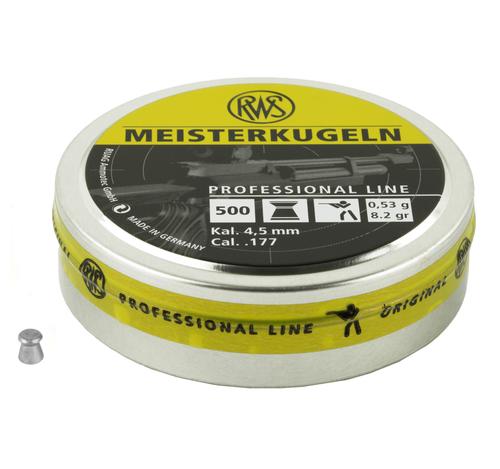 Brand: RWS Pellets | MPN: 2315030 | Use: Target, Competition | Caliber: .177 | Grain: 8.2 | Pellet: Wadcutter | MUNITIONS EXPRESS