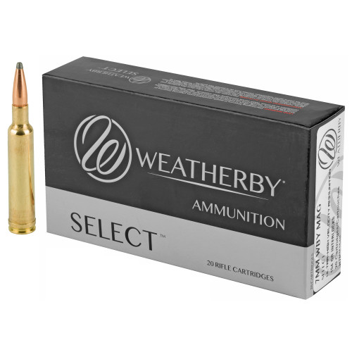 Brand: Weatherby Ammo   MPN: H7MM154IL   Use: Hunting (Deer, Elk)   Caliber: 7mm Weatherby Magnum   Grain: 154   Bullet: Jacketed Soft Point   MUNITIONS EXPRESS
