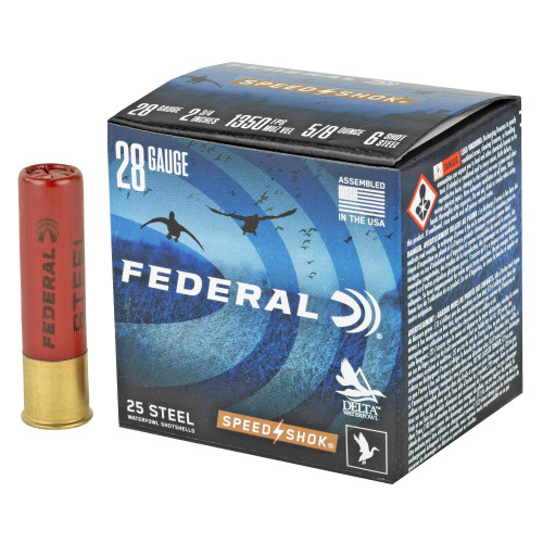 Brand: Federal Ammo | MPN: WF2836 | Use: Hunting (Waterfowl) | Gauge: 28 | Length: 2-3/4"