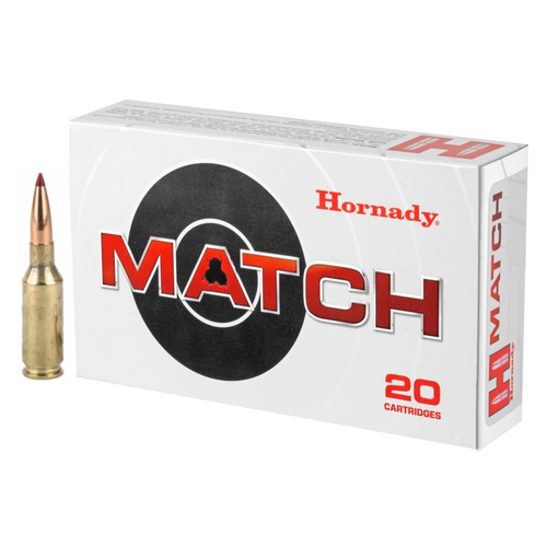 Brand: Hornady Ammo | MPN: 81608 | Use: Competition, Target | Caliber: 6mm ARC | Grain: 108 | Bullet: Polymer Tip | MUNITIONS EXPRESS