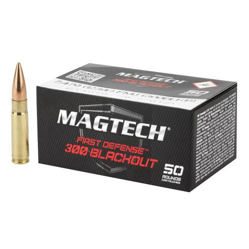 Brand: Magtech Ammo | MPN: 300BLKB | Use: Target | Caliber: .300 AAC Blackout | Grain: 123 | Bullet: Full Metal Jacket | MUNITIONS EXPRESS