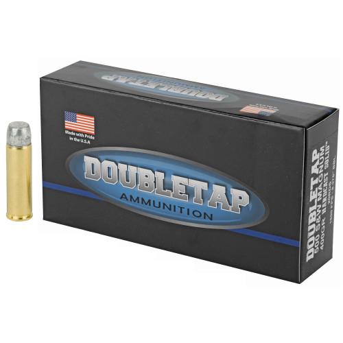 Brand: DoubleTap Ammo | MPN: 500400HC | Use: Hunting (Black Bear) | Caliber: .500 S&W Magnum | Grain: 400 | Bullet: Flat Nose | MUNITIONS EXPRESS