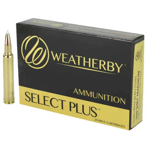 Brand: Weatherby Ammo | MPN: N300200ACB | Use: Hunting (Elk, Black Bear) | Caliber: .300 Weatherby Magnum | Grain: 200 | Bullet: Polymer Tip | MUNITIONS EXPRESS