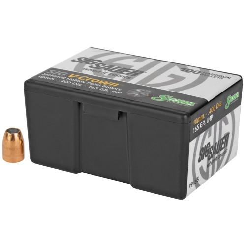 Brand: Sierra Bullets   MPN: 9465   Use: Defense   Caliber: .40 (.400 Diameter)   Grain: 165   Bullet: Jacketed Hollow Point   MUNITIONS EXPRESS