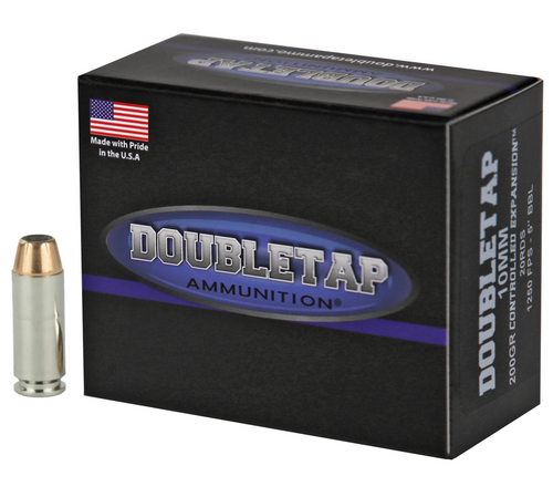 Doubletap 10mm AUTO 200gr Controlled Expansion Jacketed Hollow Point 20/Box
