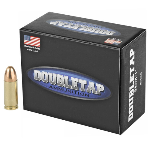 Brand: DoubleTap Ammo   MPN: 9MM147RN    Use: Competition, Target   Caliber: 9mm Luger   Grain: 147   Bullet: Full Metal Jacket   MUNITIONS EXPRESS