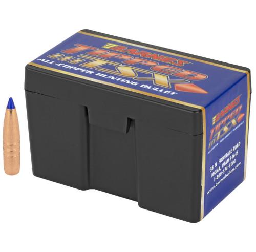 Brand: Barnes Bullets   MPN: 30370   Use: Hunting (Deer, Elk)   Caliber: .30 (.308 Diameter)   Grain: 168   Bullet: Polymer Tip Boat Tail   MUNITIONS EXPRESS