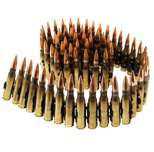 Brand: Sellier & Bellot Ammo   MPN: SB762A-LINKED   Use: Target   Caliber: 7.62 NATO   Grain: 147   Bullet: Full Metal Jacket   MUNITIONS EXPRESS