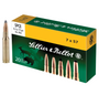 Brand: Sellier & Bellot Ammo | MPN: SB757C | Use: Hunting (Deer) | Caliber: 7x57mm Mauser (7mm Mauser) | Grain: 173 | Bullet: Jacketed Soft Point | MUNITIONS EXPRESS