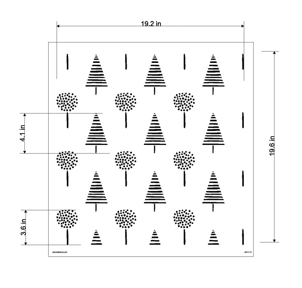 Fox Forest Collection H Wall Stencil Size