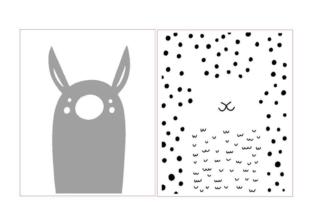 Mix and Match Animal VI - Llama Stencil by Victoria Borges SKU #WAG106