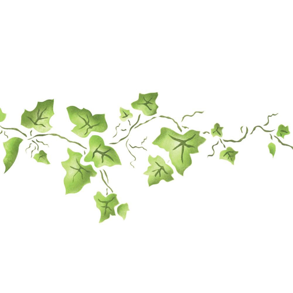 Small Ivy Border Wall Stencil