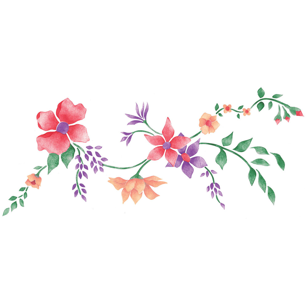 6.5 inch Floral Border Wall Stencil