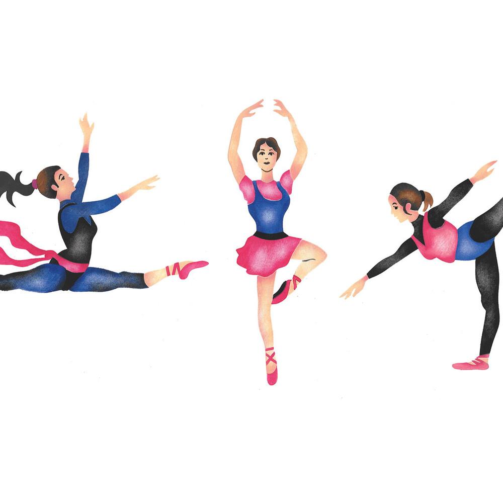 Ballet Dancers Wall Stencil