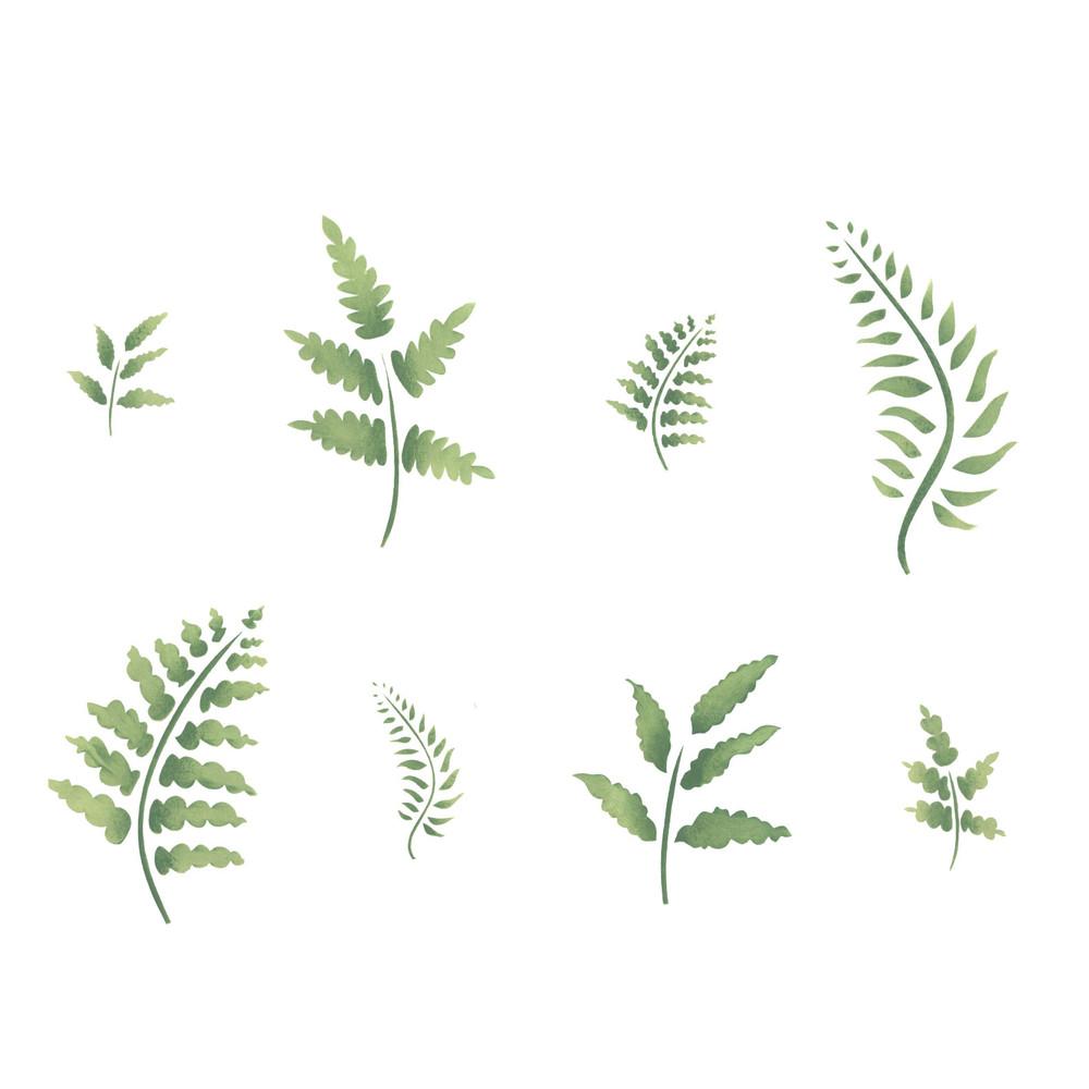 Eight Ferns Wall Stencil