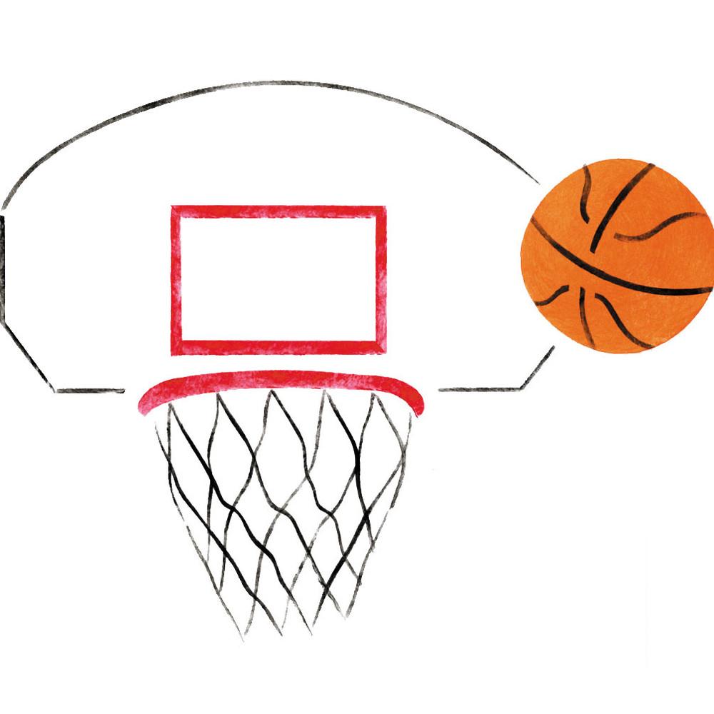 Basketball  Wall Stencil
