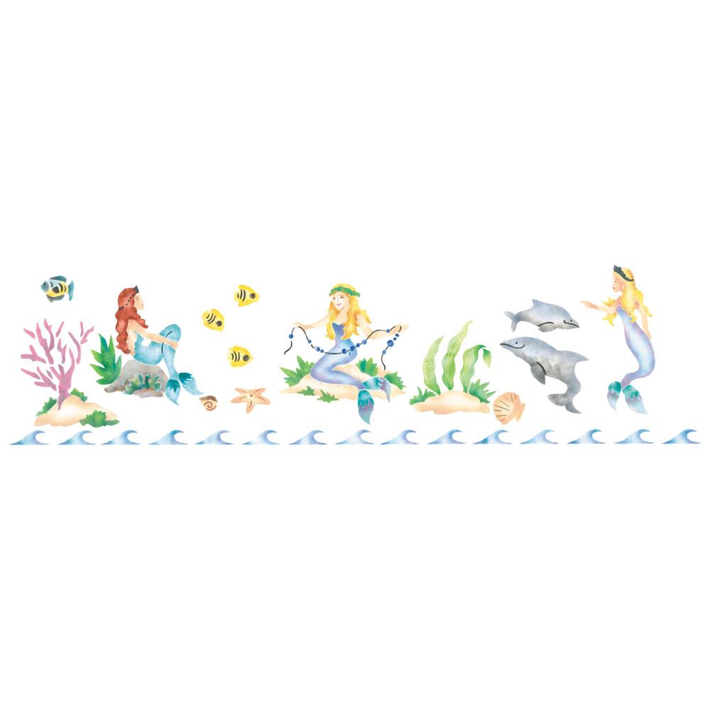 Mermaids Wall Stencil