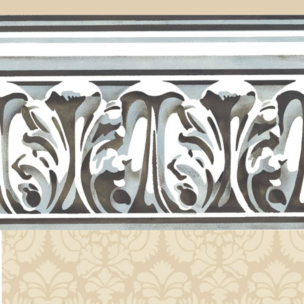 Detailed Molding Wall Stencil