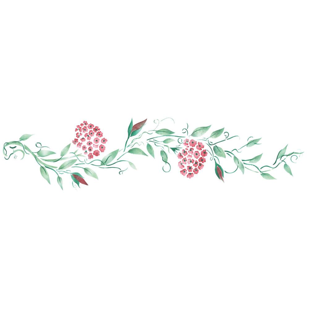 Primrose Vine Flower Wall Stencil