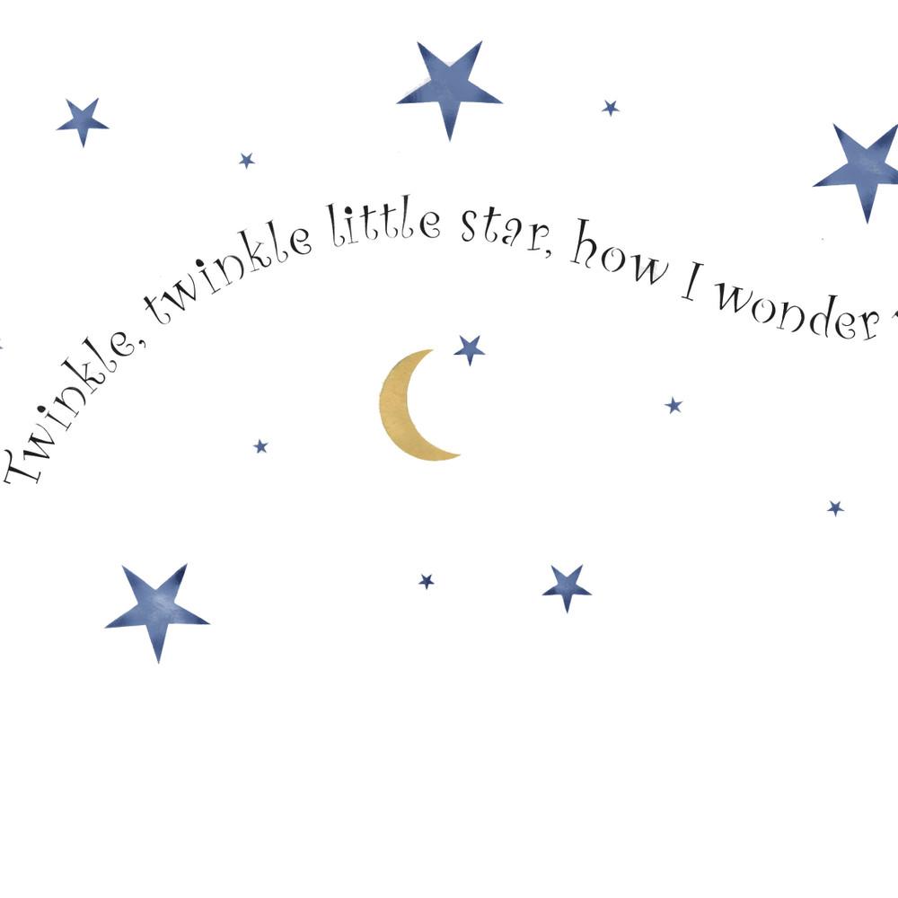 Twinkle ,Twinkle Star Wall Stencil Border