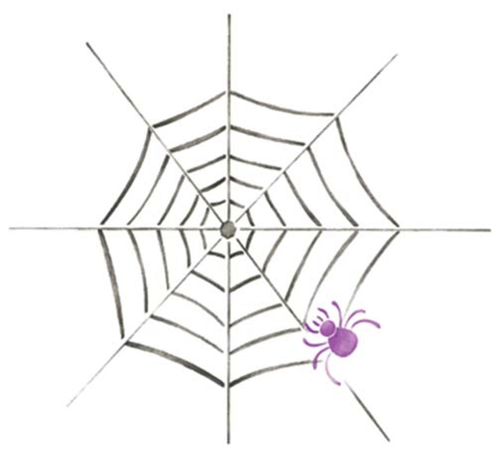 Spider Web Wall Stencil