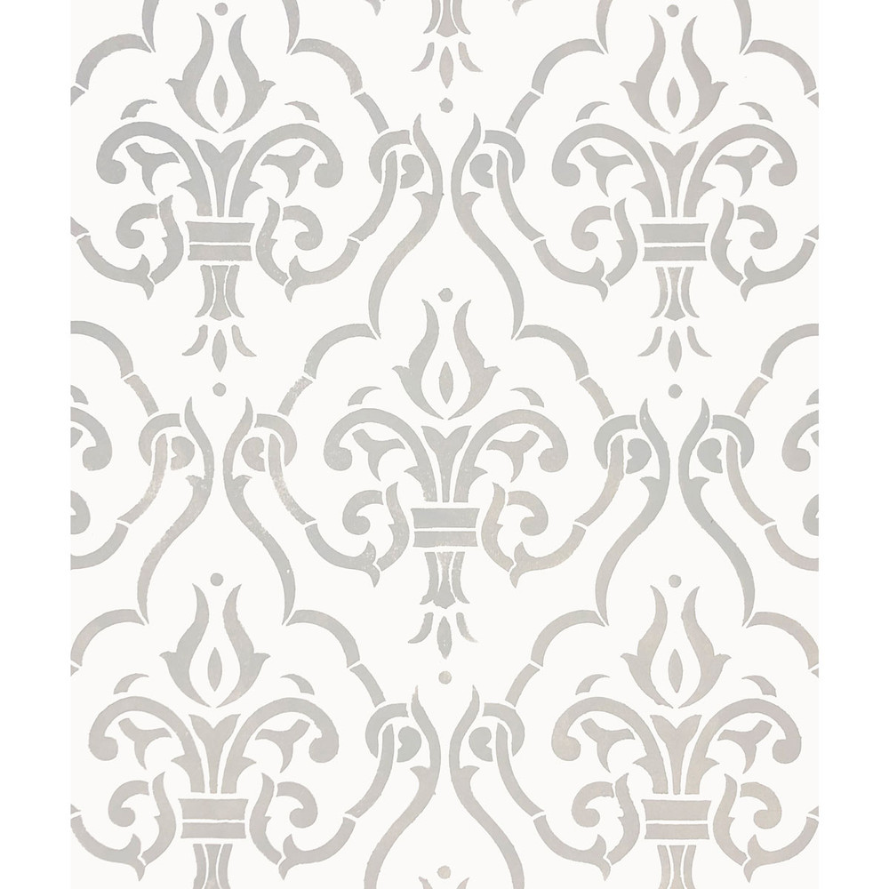 Diamond Damask All Over Wall Stencil