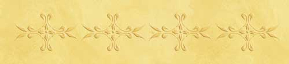 Small French Medallion Side Wall Stencil