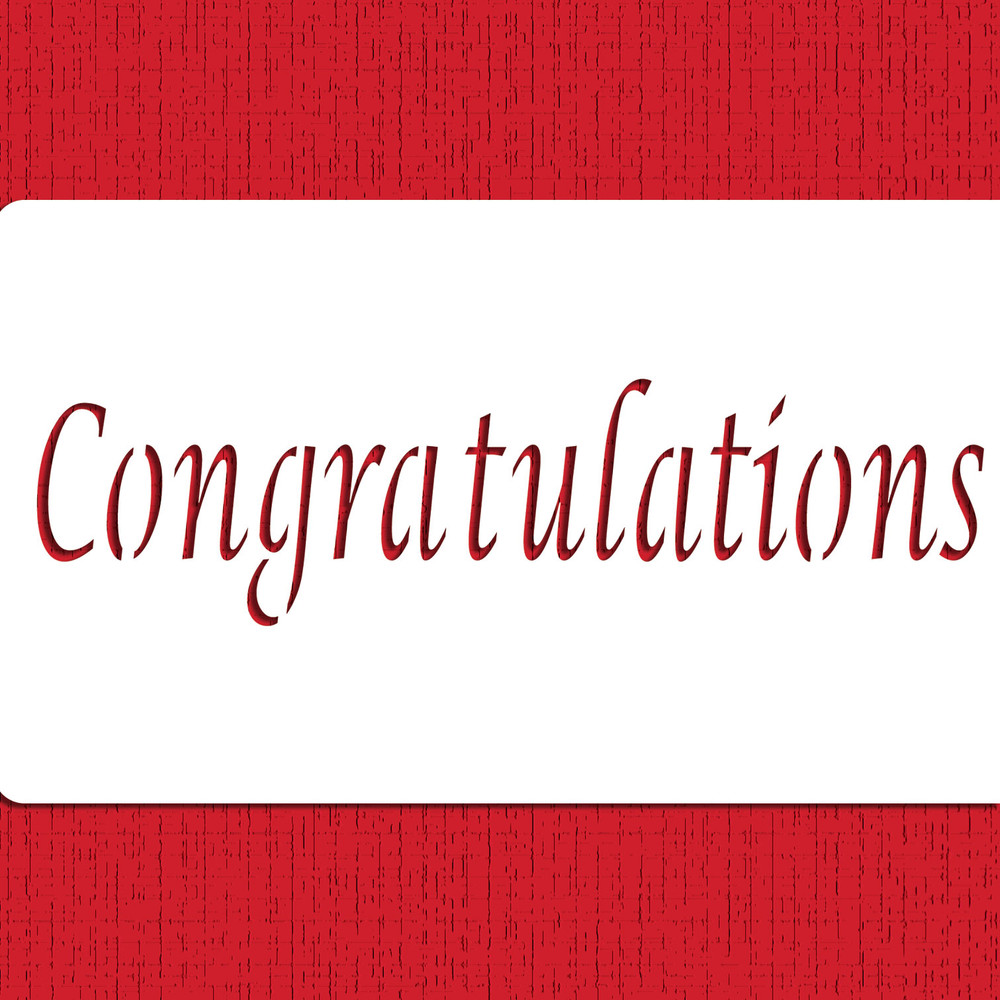 Congratulations Cake Stencil